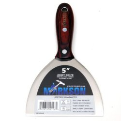 "Brazilian Pakka Proffesional Wooden Handle Stainless Steel Putty Knife (5"" Ultra Flex Scraper), Joint Knife"