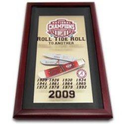 Steel Warrior 2009 National Champions Alabama Tide Extra Large 1/1000 Trapper Pocket Knife Knives