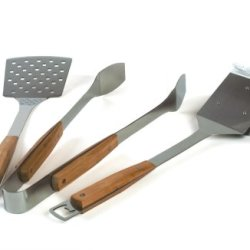 Charcoal Companion 3-Piece Pacific Bamboo Barbecue Tool Set