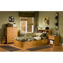 Image of Kids Bedroom Furniture Set in Florence Maple - South Shore Furniture - 3575-BSET-1 (3575-BSET-1)