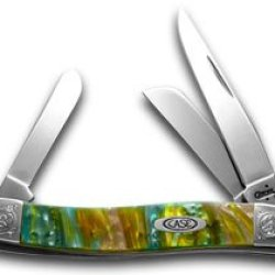Case Xx Engraved Bolster Series Abalone Genuine Corelon Stockman Pocket Knife