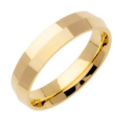 14K Gold Traditional Knife Edge Women'S Wedding Band (5Mm) Size-3