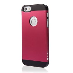 Iphone 5S Red Case, Red Aluminum Iphone 5 Case Cover: Apple Iphone 5S Case Cover Of Red Aluminum Metal On Slim Pc. Amplim Alloy Red Apple Iphone 5S Case Cover Retail Packaging. Red Apple Iphone 5S Case Cover For At&T, Verizon, Sprint, T-Mobile And Unlocke