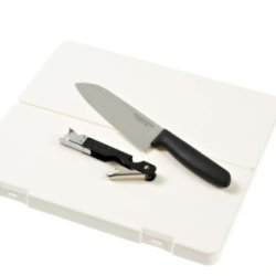 Captain Stag Santoku Knife Set (Chefs Knife + Cutting Board + Can Opener) M-5561