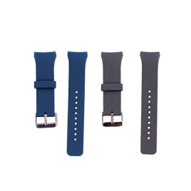 2PC-Samsung-Gear-S2-Watch-Band-YGDZ-Soft-Silicone-Sport-Replacement-Band-for-Samsung-Gear-S2-Smart-Watch-SM-R720-SM-R730-Version-OnlyGray-and-Blue