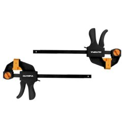 Olympia Tools 38-230 2-Piece Mini Ratcheting Bar Clamp And Spreaders Set