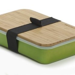Black And Blum Aluminium Pack Up Sandwich Lunch Box Bamboo Chopping Board Lid Lime Green - Sb002