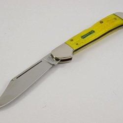 2007 Case Xx 61549 Yellow John Deere Jigged Bone Copperlock Pocket Knife #05884