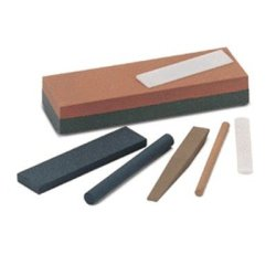 "Norton Single Grit Abrasive Benchstone, Aluminum Oxide, 4"" Length X 1"" Width X 1/2"" Height, Grit Fine (Pack Of 5)"