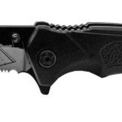 Us Navy Rescue Folding Knife W/ Cvn Deck On Blade