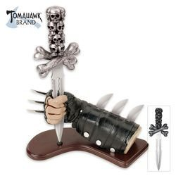 Tomahawk Skull Dagger With Leather Glove