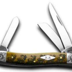 Case Xx Elk Walking Antique Stockman 1/200 Pocket Knife Knives
