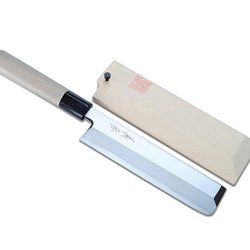 Yoshihiro Shiroko High Carbon Steel Kasumi Edo Usuba Vegetable Japanese Chef'S Knife Magnolia Handle: 7.7Inch (195Mm)