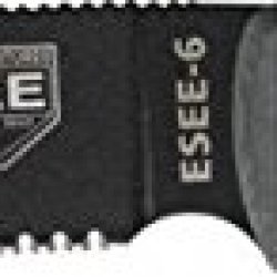 Esee Model 6 Part Serrated Fixed Blade Knife, 5.75In, Black Blade, Black Micarta Es-6S-Od