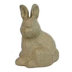 Paper Mache Sitting Rabbit Kraft By Craft Pedlars