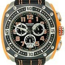 Swiss Military Calibre Men'S 06-4F1-04-079 Flames Chronograph Orange Leather Date Watch