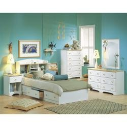 Image of Kids Bedroom Furniture Set in Pure White/Maple - South Shore Furniture - 3263-BSET-1 (3263-BSET-1)
