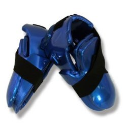Playwell Martial Arts Dipped Foam Sparring Boots Double Layer - Blue - S
