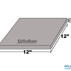 Isolate It!: Sorbothane Vibration Damping Sheet Stock 50 Duro (3/16X 12 X 12In)