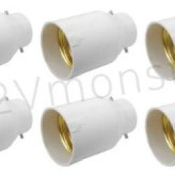** 10 Pack ** Illumi Projections Bayonet To Edison Light Bulb Socket Changer Fitting Adapter B22 To E26 ** 10 Pack **