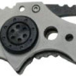 """Mantis Knives Mr-1B """"Aardvark"""" Bead Blasted Edc Folder (Silver/Black, Medium)"""
