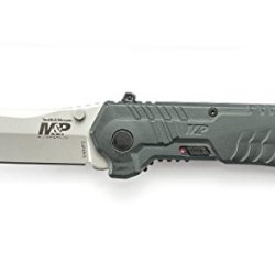 Smith & Wesson Swmp2 Military And Police Knife With Magic Assisted Open And Scooped Back Tanto Blade