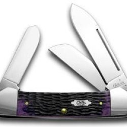 Case Xx Purple Haze Jigged Bone Gunboat Canoe Pocket Knife Knives