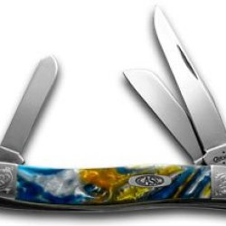 Case Xx Engraved Bolster Series Genuine Sapphire Corelon Stockman Pocket Knife
