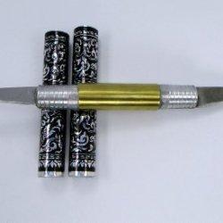 2 Blade Art Thai Carving Fruit Vegetable Thai Knife Cutter Art Tool Stainless Steel