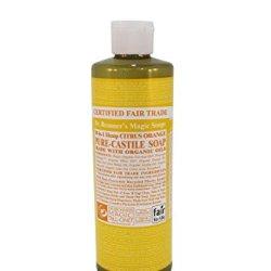 Dr. Bronner'S Castile Liquid Soap, Organic, Citrus Orange - 16 Oz
