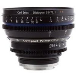 Zeiss Compact Prime Cp.2 35Mm F/2.1 T* (Feet) Ef Eos Bayonet Mount Lens