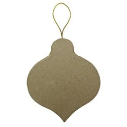 Paper Mache Flat Pointed Round Ornament By Craft Pedlars