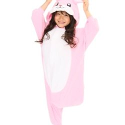 Pink Rabbit Kids Kigurumi (5-9 Years)