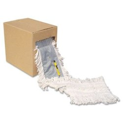 "Unisan Unsff40 Flash Forty Disposable Dustmop Cotton 5"", Natural"