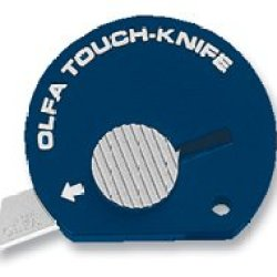 Olfa Touch Knife Tk-4N Color Navy Blue Model 1083066 Pack Of (12)