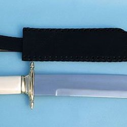 Maritime Sailor'S Bowie Knife W/ Leather Sheath