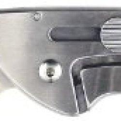 Ruko 3-Inch Blade Folding Knife With Plain Edge Shark Lever Action Linen Micarta Handle