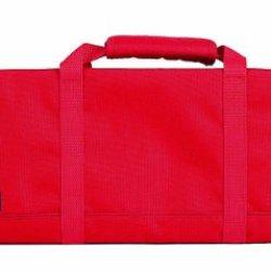 Messermeister 12-Pocket Padded Knife Roll, Red