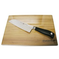 Wusthof Grand Prix Ii 7 Inch Santoku Knife With Bamboo Cutti 1555