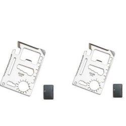 Se Mt908 11 Function Credit Card Size Survival Pocket Tool (2 Pack)