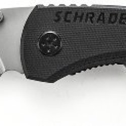 Schrade Sch101L Serrated Stainless Steel Drop-Point Folding Liner-Lock Pocket Knife, 3.0-Inch