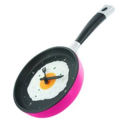 Present Time Silly Fried Egg Wall Clock, Pink
