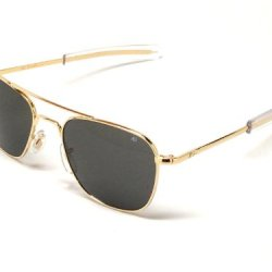 Ao American Optical Original Pilot Sunglasses Gold 55Mm Bayonet Temples