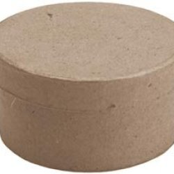 "Bulk Buy: Dcc Paper Mache Mini Round Box 3""X3""X1.5"" 28-0022 (12-Pack)"