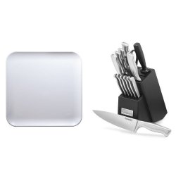 Cuisinart 15-Piece Stainless Steel Hollow Handle Block Set And Ba-1111 Prepboard/Counter Protector Bundle