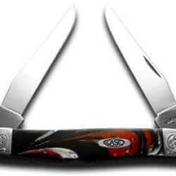 Case Xx Engraved Bolster Series Genuine Man Black Corelon Muskrat Pocket Knife