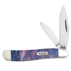 Case Cutlery 9220Lp Case Lollipop Corelon Peanut Pocket Knife With Stainless Steel Blades In Pink, Blue, Purple Mixed Corelon