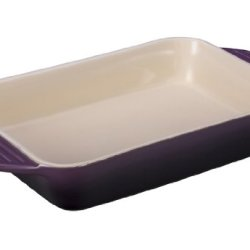 Le Creuset Stoneware Rectangular Dish, 12.5 By 8.25-Inch, Cassis