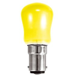 Crompton 15W 240V Pygmy Bulb Yellow Coloured Sbc/B15 (Small Bayonet Cap) Appliance Lamp - [Eu Specification: 220-240V]