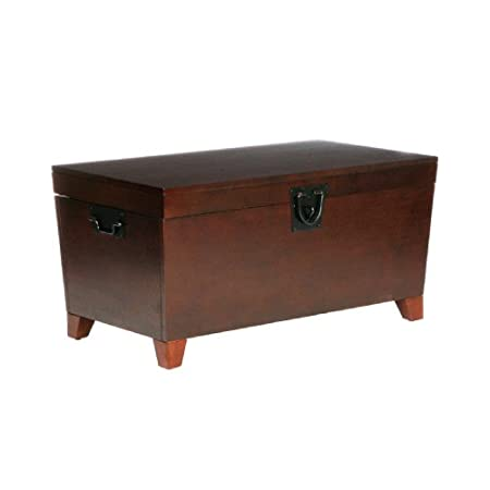 What a combination of contemporary style and usefulness! This wooden trunk will not only help you organize your living room by giving you extra storage, but also look great. Black metal handles complete this simple design. 37-3/4-inch by 20-3/4-inch ...